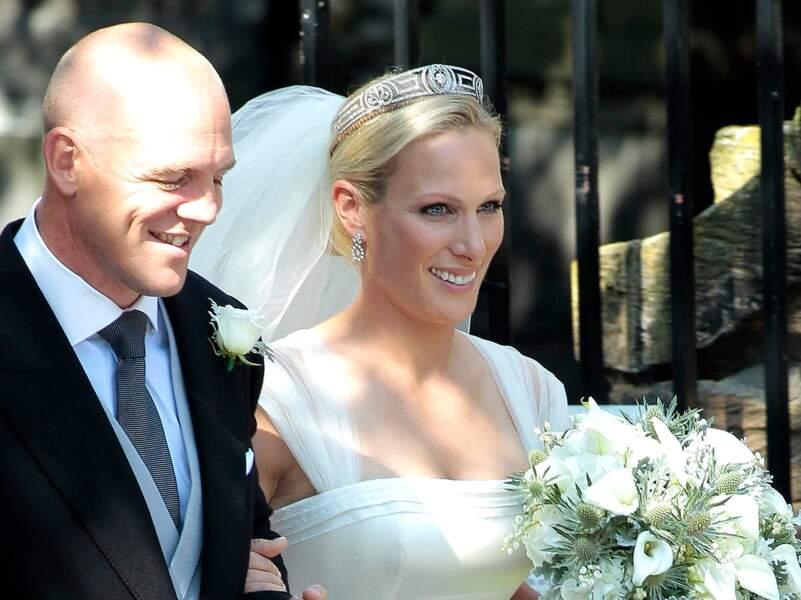 Zara Phillips: sourcils naturels, teint et lèvres à peine rosés pour son mariage avec Mike Tindall