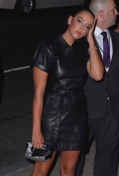 Pauline Ducruet toute de cuir vêtue au défilé Tom Ford