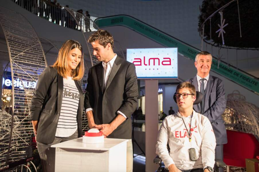 Karine Ferri et Yoann Gourcuff étaients présents pour soutenir l'association ELA