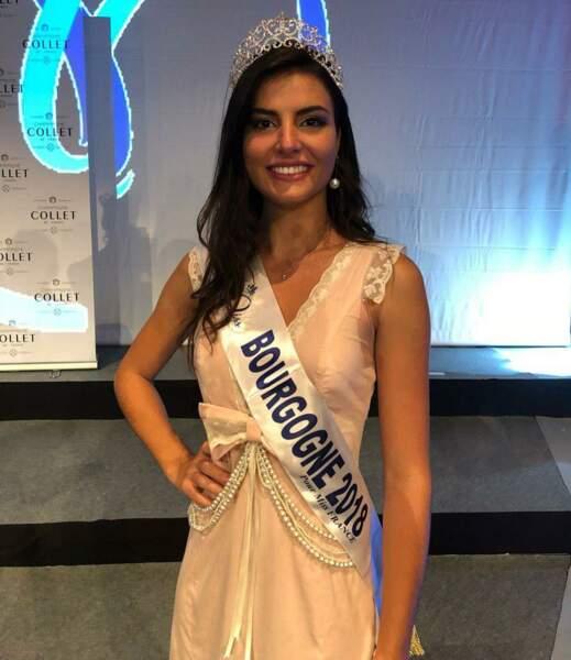Coline Touret, 19 ans, a été sacrée Miss Bourgogne et tentera de devenir Miss France 2019