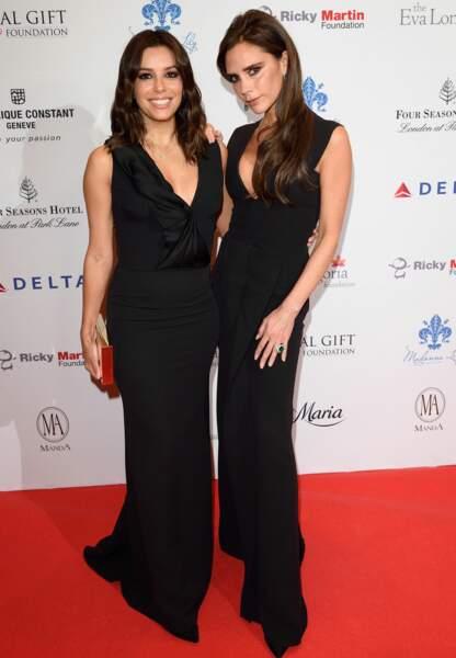 Eva Longoria et Victoria Beckham, radieuses en jumelles d'un soir pour le Global Gift Gala