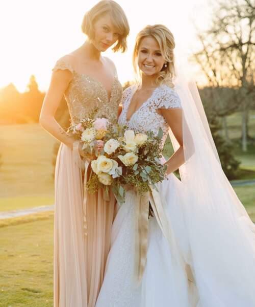 Taylor Swift au mariage de son amie Britany Maack en février 2016