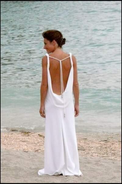 Alessandra Sublet sublime dans sa robe de mariée