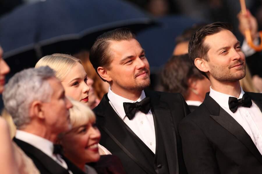 Carey Mulligan, Leonardo DiCaprio et Tobey Maguire au festival de Cannes en 2013