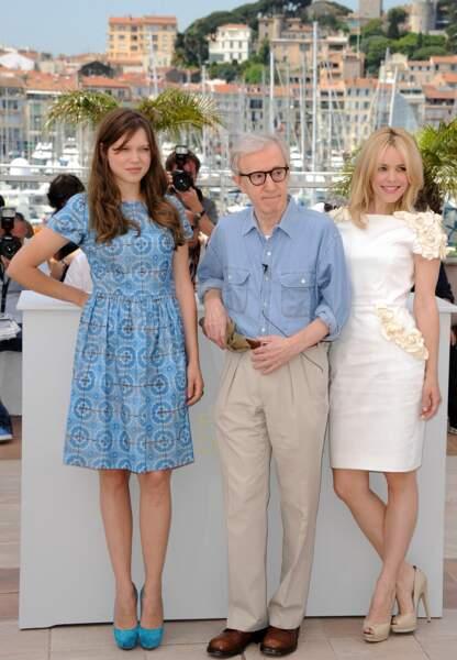 Léa Seydoux aux côtés de Woddy Allen et Rachel McAdams