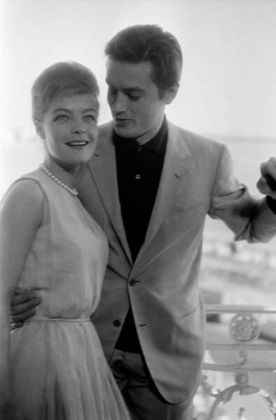 Alain Delon et Romy Schneider au Festival de Cannes en 1962