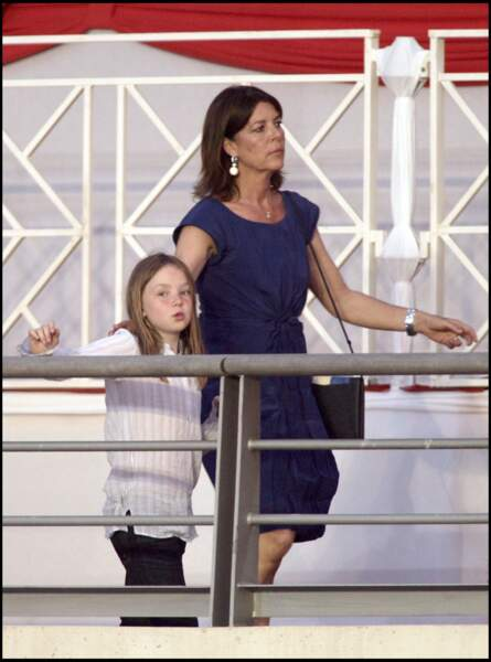 Alexandra de Hanovre et sa mère Caroline le 28 juin 2008