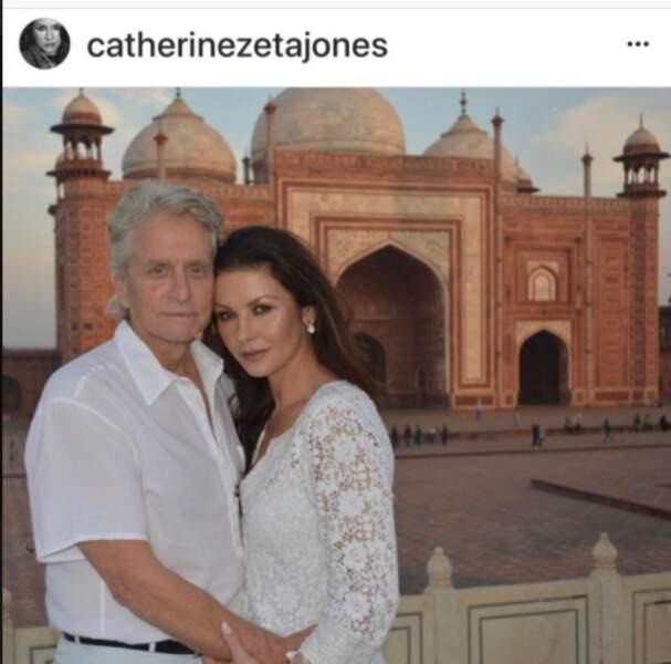 Michael Douglas et Catherine Zeta-Jones en Inde