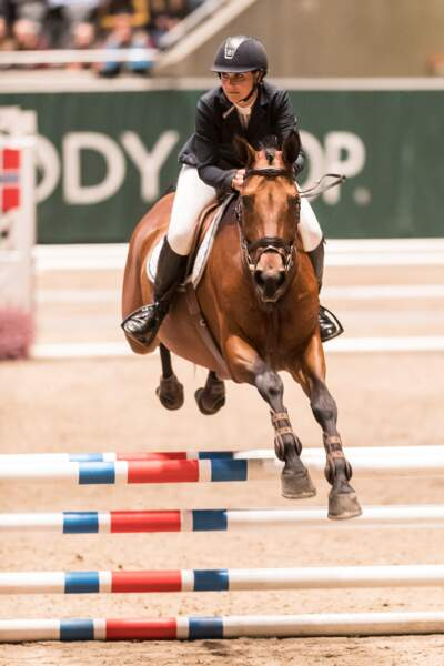 """La princesse Martha Louise de Norvège participe au jumping """"Kingsland Oslo Horse Show"""" à Oslo le 15 octobre 2016"""