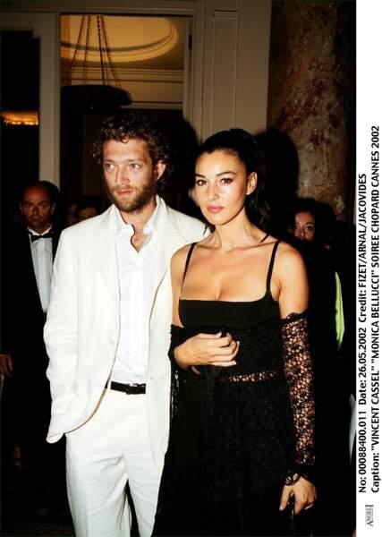 Monica Bellucci et Vincent Cassel lors d'une soirée Chopard en 2002