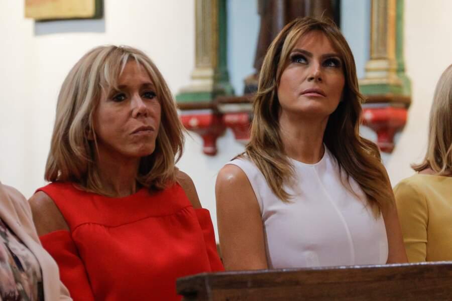 Brigitte Macron et Melania Trump ont visité la charmante ville d'Espelette