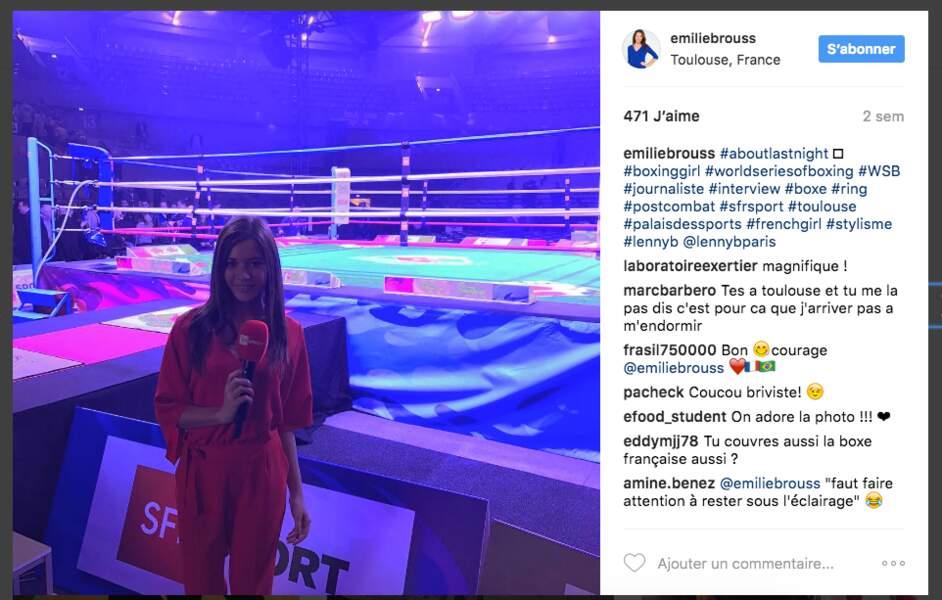 Sa première soirée de boxe sur la chaîne SFR Sport
