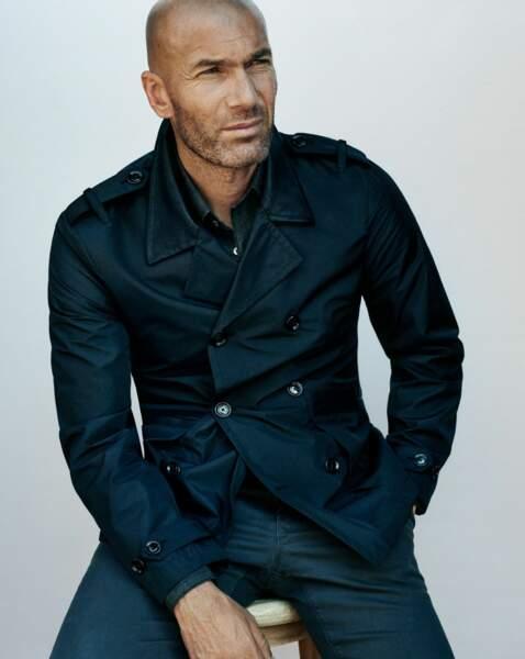Zinédine Zidane, égérie de la marque Mango pour la collection masculine en 2015