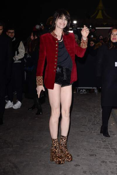 Charlotte Gainsbourg a osé le mini short