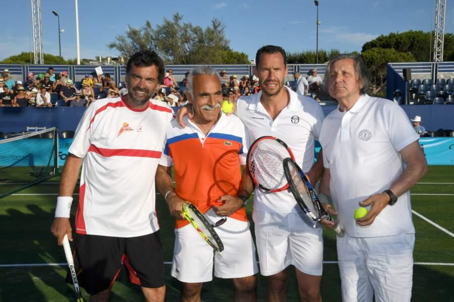 Sergi Bruguera, Mansour Bahrami, Michael Llodra et Elie Nastase