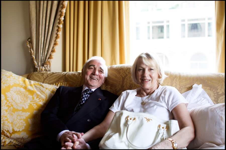 Charles Aznavour et sa femme Ulla