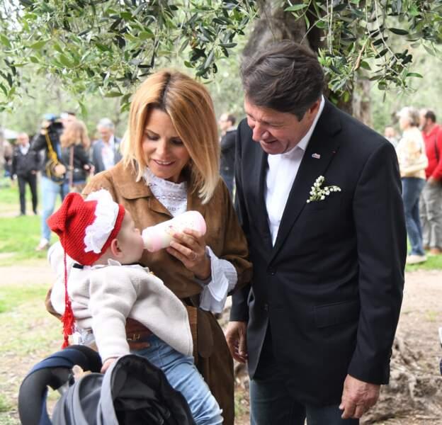 Christian Estrosi, le maire de Nice, et sa femme Laura Tenoudji