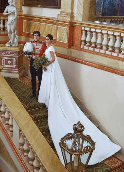 Fernando Fitz-James Stuart et Sofia, dans une robe dessinée par sa tante, la créatrice madrilène Teresa Palazuelo
