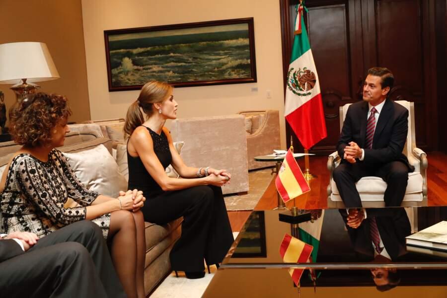 Elle y a rencontré le président Enrique Peno Nieto