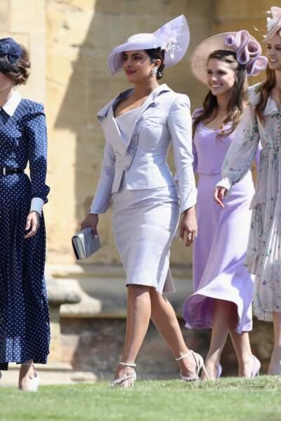 Priyanka Chopra (en ensemble Vivienne Westwood) au mariage de Meghan Markle et du Prince Harry, le 19 mai 2018