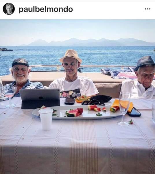 Jean-Paul Belmondo en vacances avec Paul, son fils