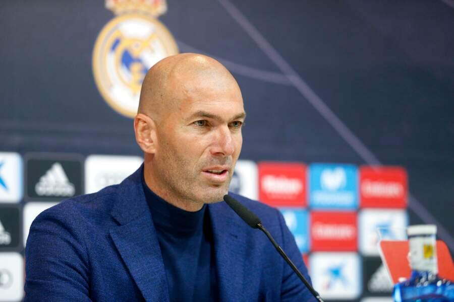 Zinédine Zidane en conférence de presse pour annoncer son départ du Real Madrid le 31 mai 2018