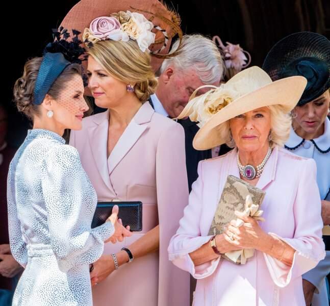 Letizia d'Espagne, Camilla Parker Bowles et Maxima des Pays-Bas très élégantes
