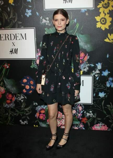 Kate Mara lors de la soirée de lancement de la collection Erdem x H&M à Los Angeles le 18 octobre 2017