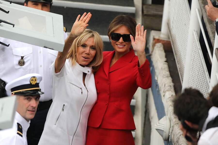 Melania Trump et Brigite Macron ont fait une croisière sur la seine en juillet dernier