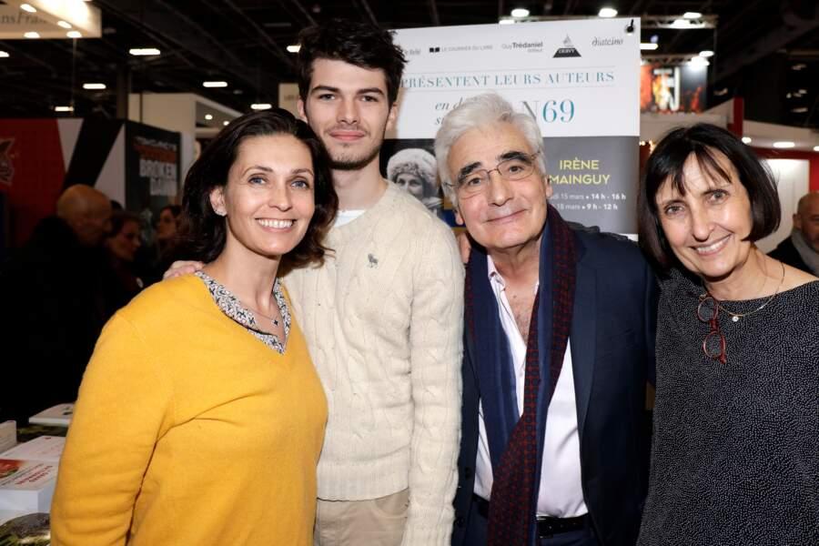 Adeline Blondieau et son fils Aïtor était accompagné de l'éditeur Guy Trédaniel