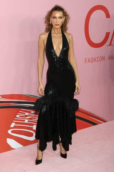 Bella Hadid, à la soirée des CFDA Awards au Brooklyn Museum de New York.