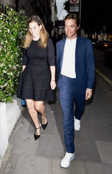 La princesse Beatrice et son fiancé à leur arrivée au club Annabel's à Londres, le 9 juillet