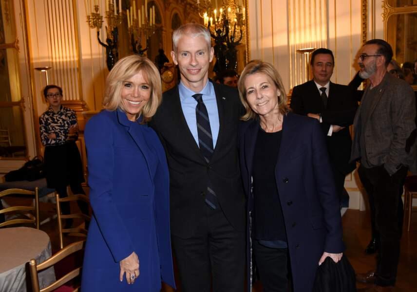 Brigitte Macron, le ministre de la Culture Franck Riester et Claire Chazal