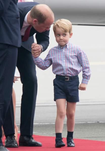 À bientôt quatre ans, le prince George cache de moins en moins ses humeurs.