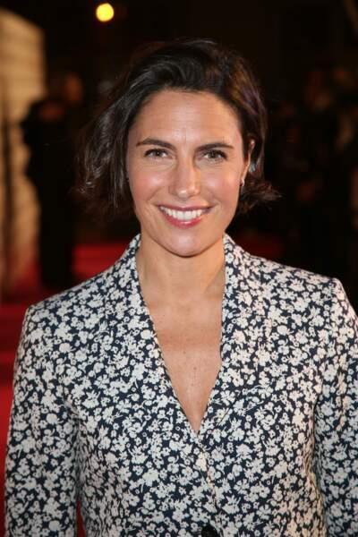 Alessandra Sublet, rayonnante, lors de la 26e cérémonie des Trophées du film français le 5 février