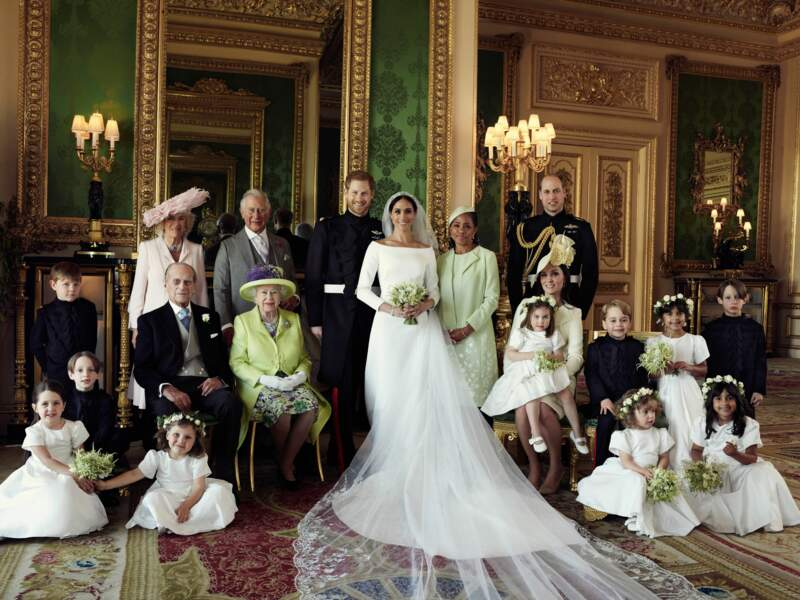 Photo officielle du mariage du prince Harry et Meghan Markle, duc et duchesse de Sussex, le 19 mai 2018.
