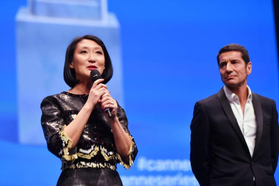 """Fleur Pellerin et le maire de Cannes David Lisnard déclarent ouverte la """"saison 2"""" de Canneseries"""