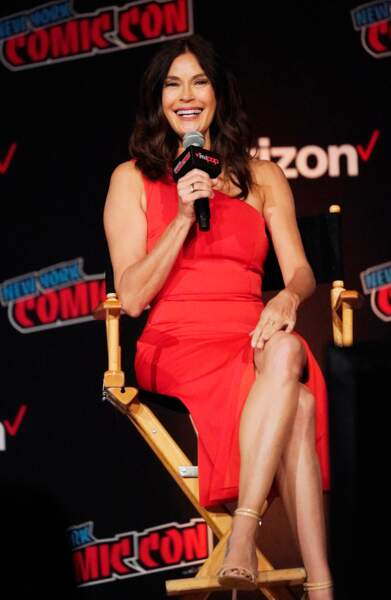 Teri Hatcher (54 ans), lors du Comic Con de New York en 2018