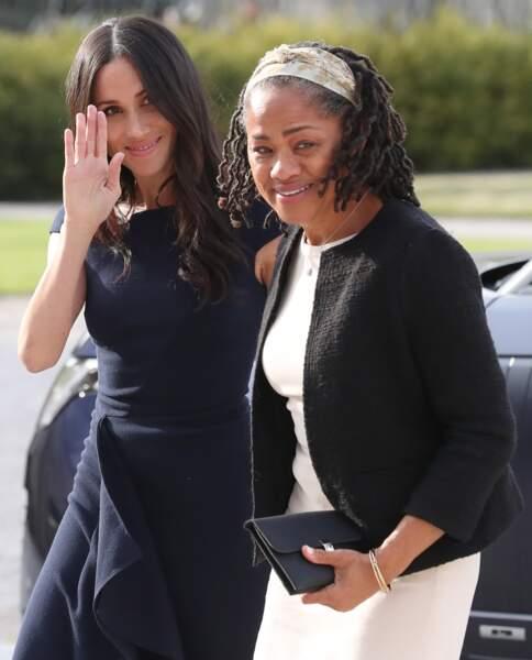 Meghan Markle tout sourire avec sa mère Doria Ragland