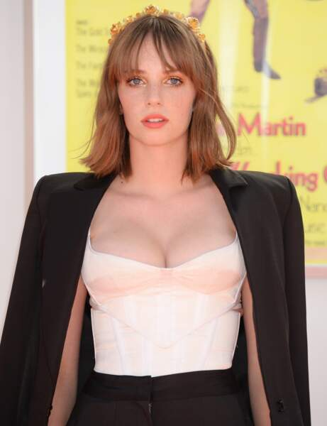 Maya Hawke, la fille d'Uma Thurman et Ethan Hawke, très élégante, tient un rôle dans le film de Tarantino