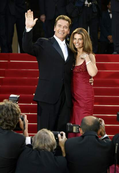 Arnold Schwarzenegger et Maria Shriver en 2003