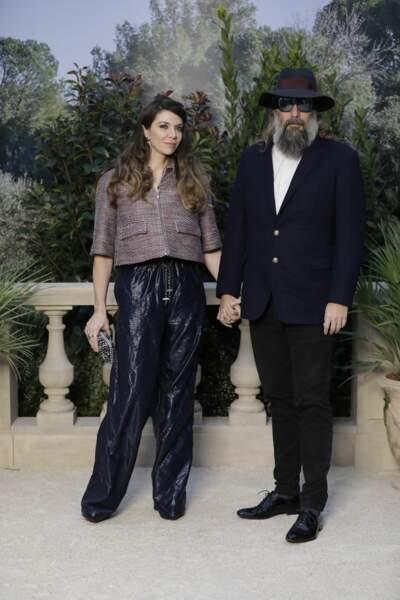 Sébastien Tellier et sa femme Amandine de la Richardière étaient au défilé Chanel Haute-Couture.