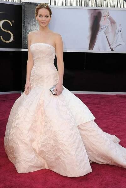 Jennifer Lawrence - Christian Dior Haute Couture, 3,4 millions d'euros