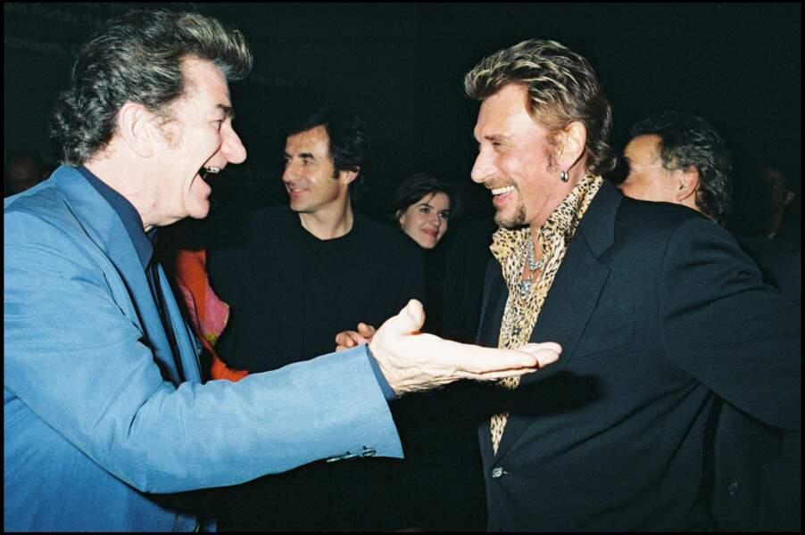 Eddy Mitchell et Johnny Hallyday en 1998