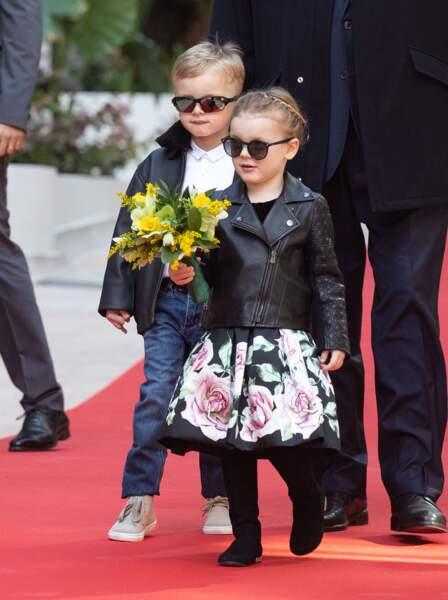 Charlène de Monaco veille elle-même aux looks de son fils Jacques et de sa fille Gabriella