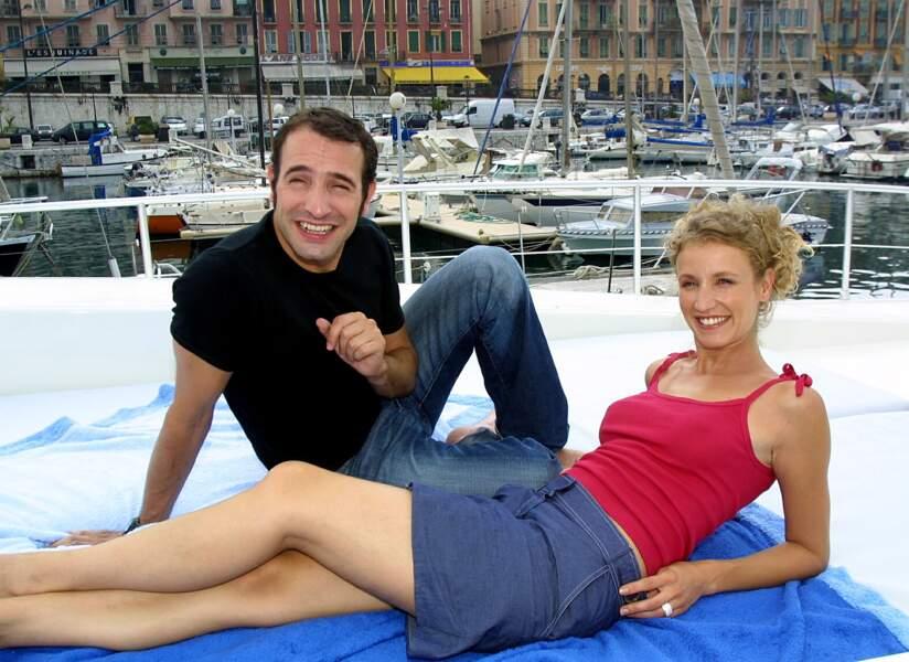 Jean Dujardin et Alexandra Lamy en 2002