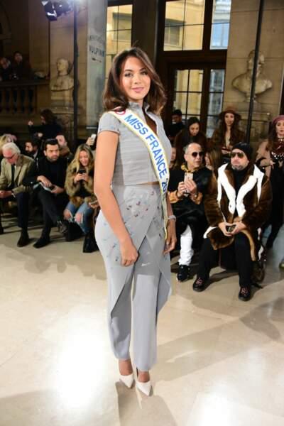 Vaimalama Chaves (Miss France 2019 ), au défilé Tony Ward, lors de la  Fashion Week, le 21 janvier 2019