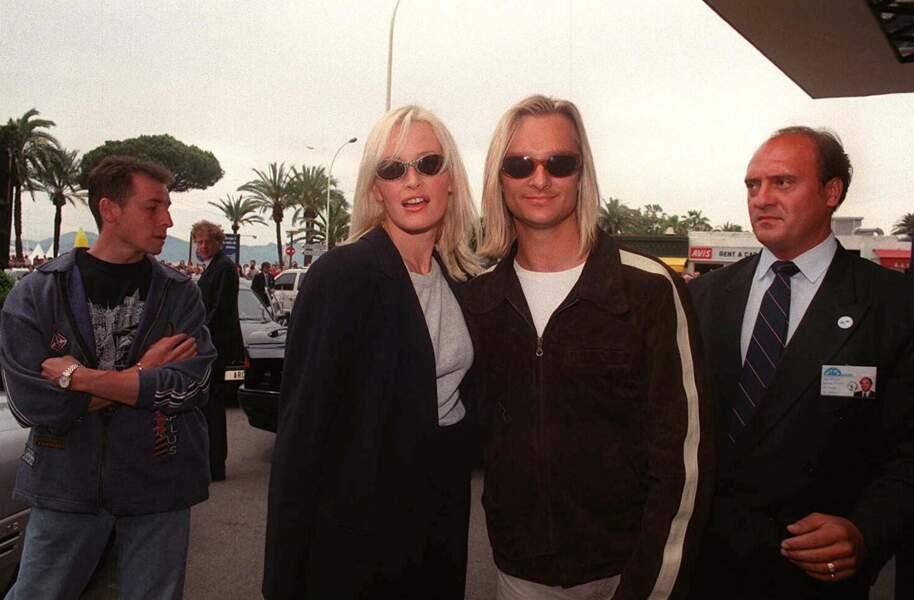 Estelle Lefébure et David Hallyday lors du 49e Festival de Cannes en 1996