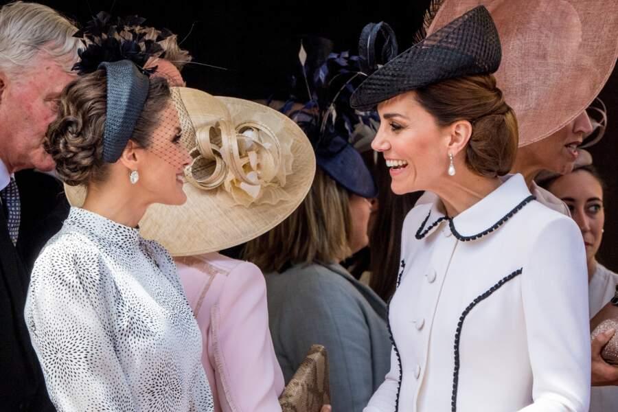 Letizia d'Espagne et Kate Middleton : un match du style ?