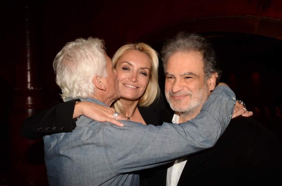 Gérard Lenorman, Christelle Bardet (compagne de Laurent Gerra) et Raphaël Mezrahi, très complices